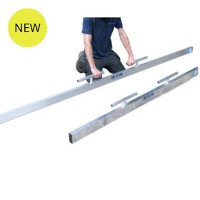Straight Edge Tamping Beam- Flooring Rule in Aluminium *With Handles* 75 x 38
